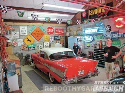 57 Chevy garage
