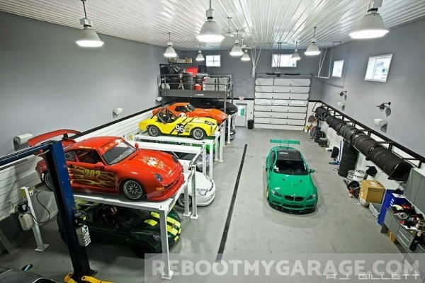 Rows of cars garage
