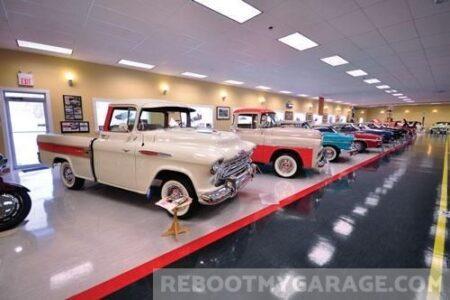 1940s and 1950s trucks garage