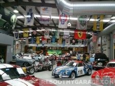 Sports roadster racers garage