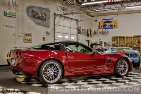Racing red garage