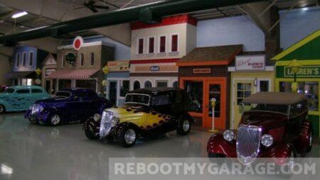 Classic yellow garage