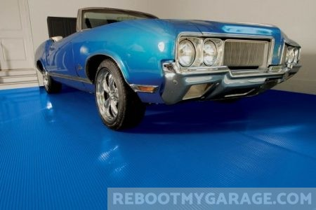 1968 Blue Buick Skylark Convertible on the G-Floor Mat