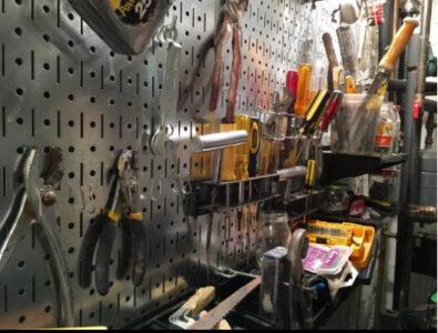 Wall Control pegboard tools