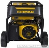 The Firman has an electric start and a pull start.