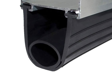 You will thread the rubber through the existing channel.