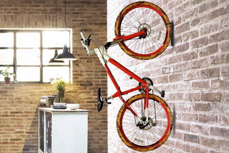Dirza bike rack on wall