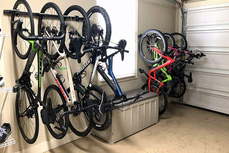 StoreYourBoard wall mount 5-bike rack