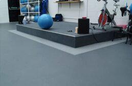 IncStore garage floor but in the gym