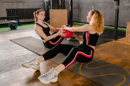 Use a cushioned surface for floor work.