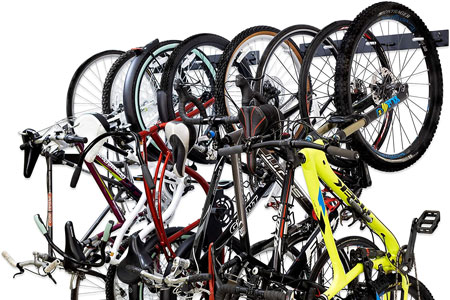 The StoreYourBoard BLAT 8-Bike Wall Mounted Rack