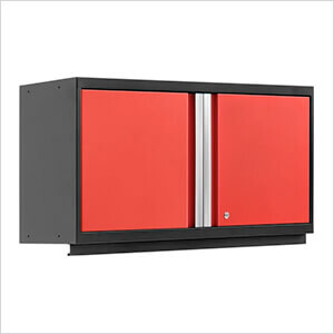 NewAge Pro 42 inch wall cabinet in red