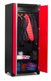 NewAge Pro 3.0 Series Red Multi-Use Locker with coats