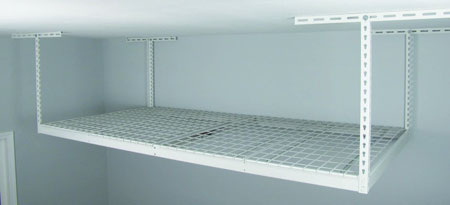A SafeRack Overhead 4 ft. x 8 ft. platform installed into the ceiling