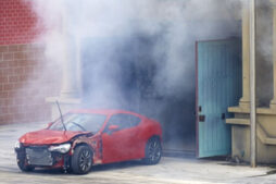 Air out car exhaust